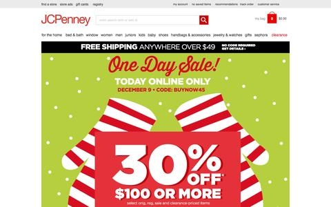 Screenshot of Home Page jcpenney.com - JCPenney: Furniture, Window & Home D残or, Fashion Clothing & More - JCPenney - captured Dec. 9, 2015