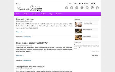 Screenshot of Blog creationsnadia.com - Blog | Creations Nadia - captured Oct. 3, 2014