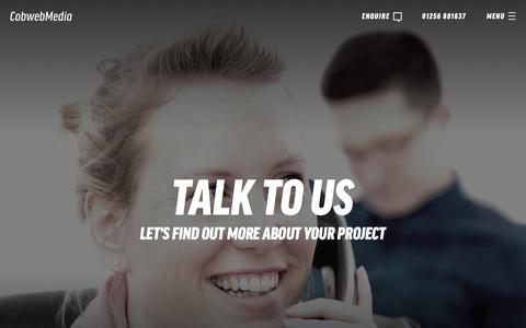 Screenshot of Contact Page cobwebmedia.co.uk - Contact Us | Web Design Experts Covering Basingstoke, Hampshire & Berkshire - captured July 19, 2018