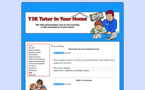 Screenshot of Blog y3ktutorinyourhome.com - Y3K Tutor In Your Home | Blog - captured July 25, 2018