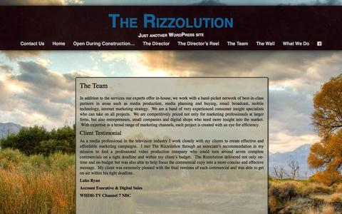 Screenshot of Team Page therizzolution.com - The Team | The Rizzolution - captured Jan. 11, 2016