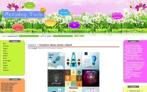 Screenshot of Home Page photoshop-bg.net - Photoshop Tools - captured Sept. 19, 2014