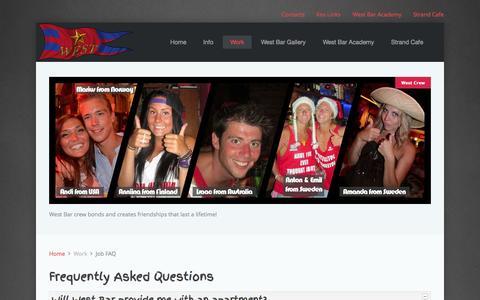 Screenshot of FAQ Page west.gr - West Bar - Job FAQ - captured Oct. 7, 2014