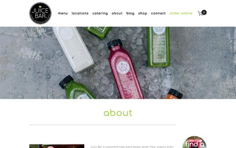 Screenshot of About Page ilovejuicebar.com - about — I Love Juice Bar - captured Oct. 14, 2018