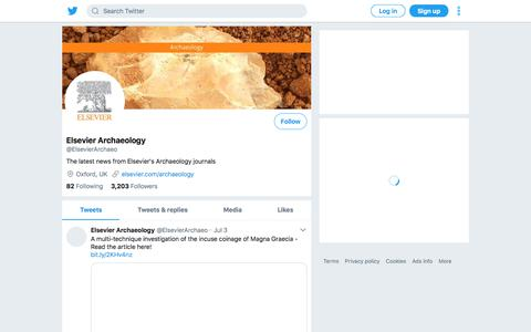 Tweets by Elsevier Archaeology (@ElsevierArchaeo) – Twitter