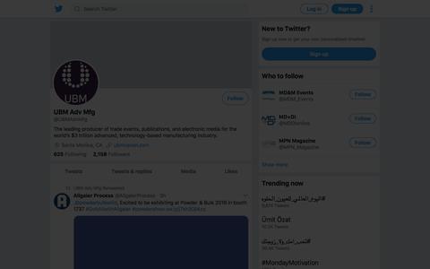 Tweets by UBM Adv Mfg (@UBMAdvMfg) – Twitter