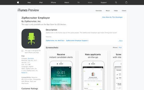 ZipRecruiter Employer on the App Store