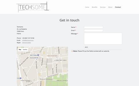Screenshot of Contact Page techsome.eu - Contact - Techsome - Consumer Electronics Retail Sales Agency - captured Jan. 10, 2016