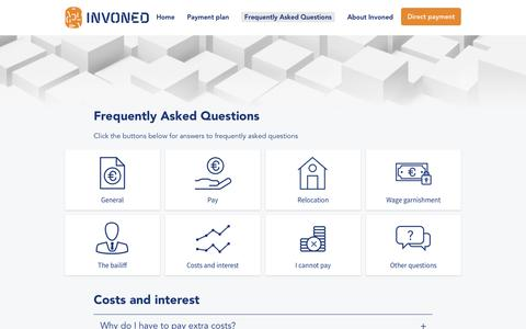 Screenshot of FAQ Page invoned.nl - Costs and interest - Invoned - captured June 8, 2017