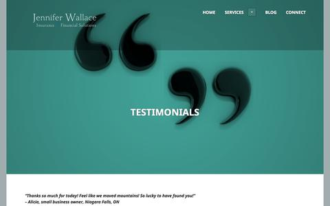 Screenshot of Testimonials Page wallace-solutions.com - Testimonials | - captured Nov. 3, 2014