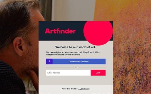 Screenshot of Signup Page artfinder.com - Affordable Paintings, Photographs, and Prints Directly from Artists | Artfinder - captured Nov. 25, 2016