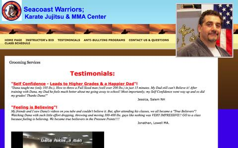 Screenshot of Testimonials Page 1secondfight.com - Grooming Services - captured Feb. 4, 2016