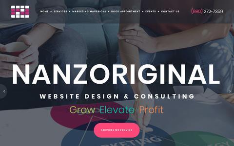 Screenshot of Home Page nanzoriginal.com - Web Design | Digital Marketing | Charlotte, NC – WordPress Web Designs that work for your business. - captured Aug. 12, 2019