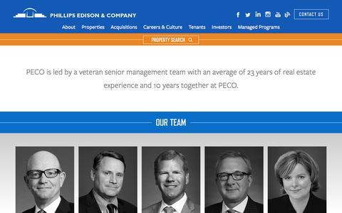 Screenshot of Team Page phillipsedison.com - Our Team | Phillips Edison & Company - captured Sept. 6, 2018