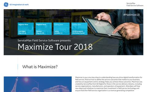 Maximize Tour 2018   ServiceMax from GE Digital