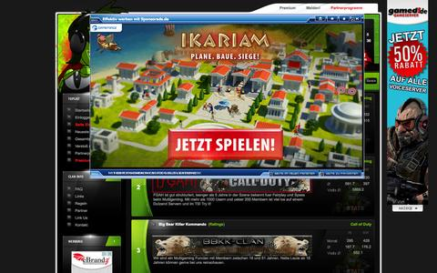 Screenshot of Home Page toplist-100.de - CLAN TOPLIST 100   ONLINE GAMING TOPLIST : Hauptseite - Alle Einträge - captured Sept. 19, 2014