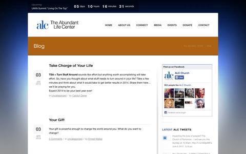 Screenshot of Blog alcchurch.org - Blog | Abundant Life Cathedral - captured Oct. 4, 2014