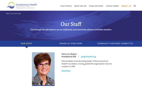 Screenshot of Team Page cthealth.org - Our Staff | Connecticut Health Foundation - captured Sept. 29, 2018