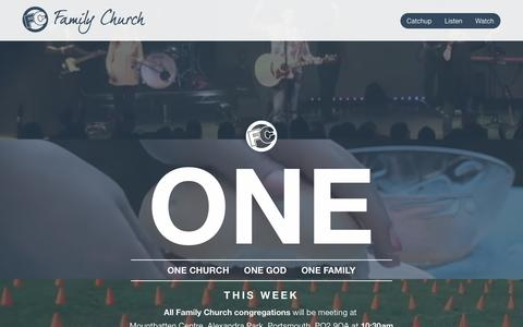 Screenshot of Home Page family-church.org.uk - Family Church - captured June 1, 2016