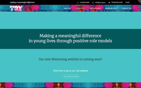 Screenshot of Case Studies Page try.org.au - MENTORING – TRY - captured Nov. 14, 2017