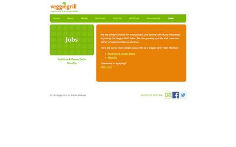 Screenshot of Jobs Page veggiegrill.com - Jobs   VeggieGrill - captured Nov. 3, 2014