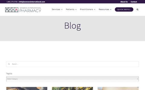 Screenshot of Blog womensinternational.com - Blog | Women's International Pharmacy - captured Nov. 5, 2019