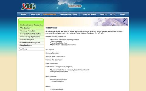 Screenshot of Services Page algbpo.com - ALG Professionals Company Limited - captured Oct. 7, 2017