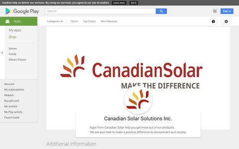 Canadian Solar Solutions Inc. - Apps on Google Play
