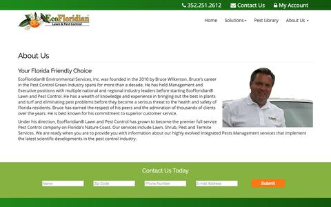 Screenshot of About Page ecofloridian.com - EcoFloridian Lawn & Pest Control in Hernando County, FL - captured Nov. 10, 2018