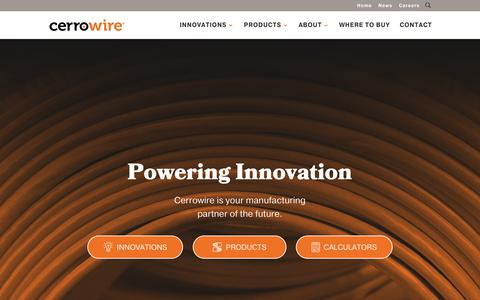 Screenshot of Home Page cerrowire.com - Home - CerroWire - captured Sept. 27, 2018