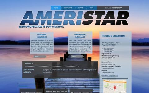 Screenshot of Home Page ameristaragency.com - AmeriStar Agency - captured Dec. 25, 2015