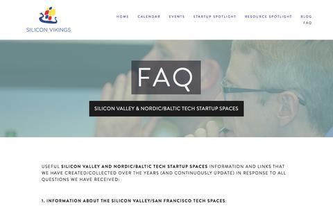 Screenshot of FAQ Page siliconvikings.com - FAQ Ń SiliconVikingsSilicon Vikings Events - captured Jan. 11, 2016