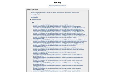 HTML Sitemap - https://eagledumpsterrental.com