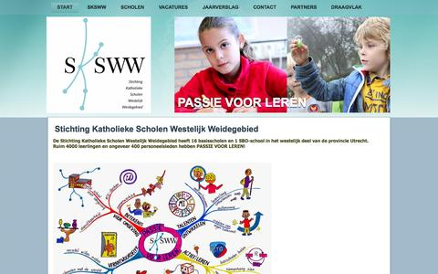 Screenshot of Home Page sksww.nl - SKSWW - captured Sept. 29, 2014