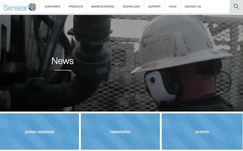 Screenshot of Press Page sensear.com - News | Sensear - captured Oct. 29, 2014