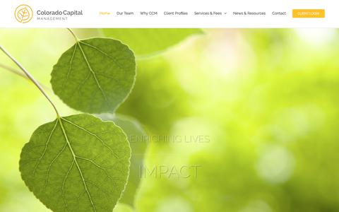 Screenshot of Home Page coloradocap.com - Home - Colorado Capital Management - Wealth Management - captured Aug. 12, 2017