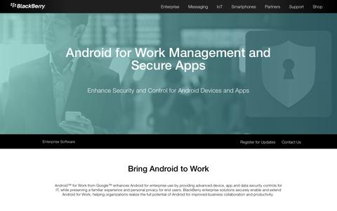 Secure Android Solution – BlackBerry and Android for Work - United States