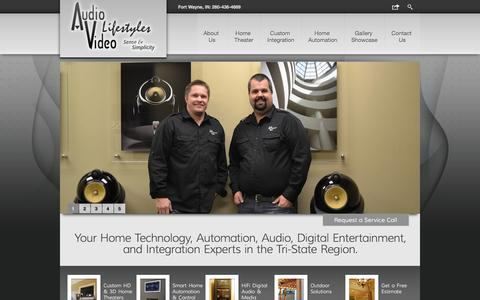 Screenshot of Home Page avlifestyles.biz - Audio Video Lifestyles - Home Technology, Automation, Audio, Digital Entertainment, and Integration Experts in the Tri-State Region - captured Oct. 5, 2014