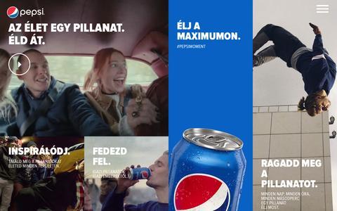 Screenshot of Home Page pepsi.hu - Az élet egy pillanat. Éld át. | Pepsi - captured March 17, 2016