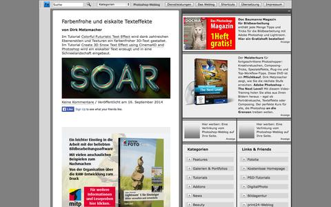 Screenshot of Home Page photoshop-weblog.de - Photoshop-Weblog - captured Sept. 19, 2014