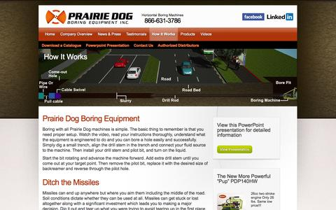 Screenshot of FAQ Page undergroundequip.com - Prairie Dog – How It Works - captured Nov. 2, 2014