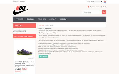 Screenshot of Login Page prosecon.nl - Gebruik cookies Online Shop - Prosecon.nl - captured Nov. 28, 2016