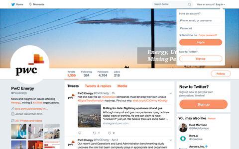 PwC Energy (@PwCEnergy) | Twitter