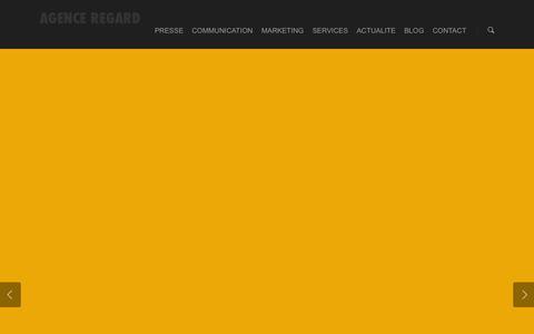Screenshot of Home Page agence-regard.com - AGENCE REGARD MEDIAS - captured Sept. 30, 2014