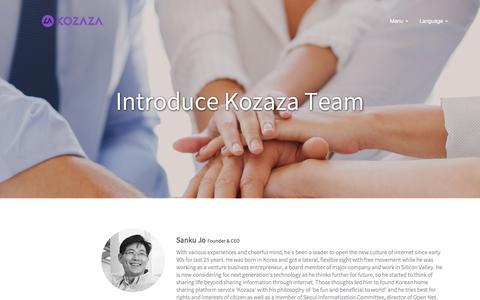 Screenshot of Team Page kozaza.com - Team of Kozaza - captured Aug. 22, 2016