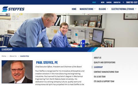 Screenshot of Team Page steffes.com - Leadership - Steffes - captured Nov. 6, 2017