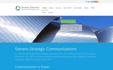 Screenshot of Home Page stevensstrategic.com - Stevens Strategic Communications, Inc – Cleveland, Ohio - captured Feb. 16, 2016