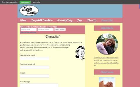 Screenshot of Contact Page funkybumpmaternity.com - Contact Me! - Funkybump Maternity - captured Oct. 29, 2014