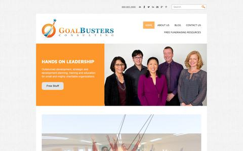 Screenshot of Home Page goalbusters.net - GoalBusters Consulting - captured Sept. 29, 2018