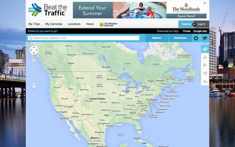 Screenshot of Home Page beatthetraffic.com - Beat the Traffic - captured Sept. 25, 2014